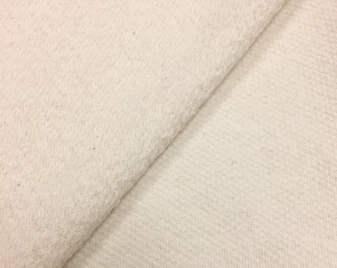 100% Cotton French Terry Fabric (Wholesale Price Available By the Bolt) USA Made Premium Quality - 6082N Scour - 1 Yard