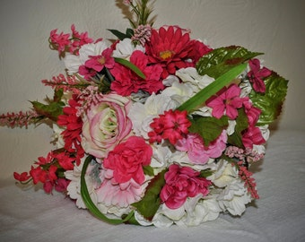 PINK Bridal Bouquet - White and Pink Bouquet