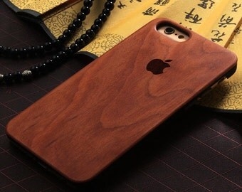 Eco Friendly 100% Bamboo Wood Case for Iphone 6 in 6 styles!