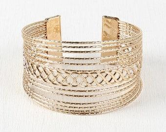Grecian Cage Bracelet - Gold