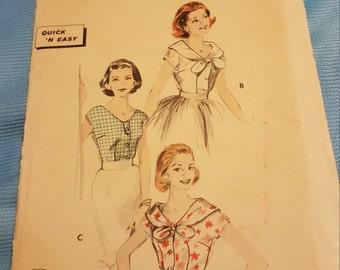 1950 Butterick #8395 size 12 UNCUT