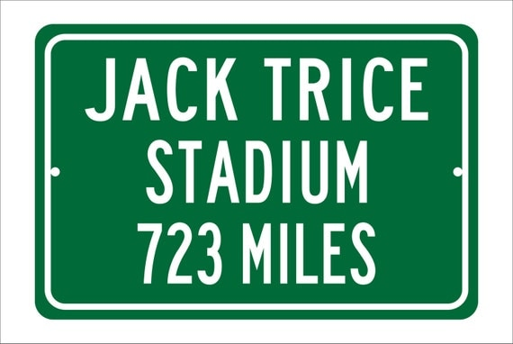 Custom College Highway Distance Sign to Jack Trice Stadium | Home of the Iowa State Cyclones | Cyclones Football | Iowa State