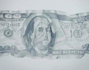 Crumpled 100 Dolar