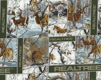 Real Tree,Winter Blocks,with Deer, Red Fox, Raccoon