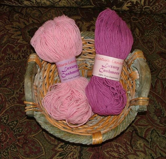 Luxury Yarn : Filatura Lanarota Luxury Cashmere Yarn Made by 3CsTwistedStitchers