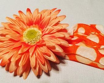 Baby Headband - Orange Crush