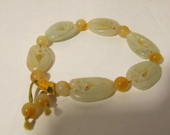 Natural Jade Hand Carving Bracelet