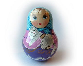 "Matreshka ""Tanyusha"" Russian Doll (Roly-Poly with a Jingle)"