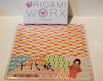 Japanese chiyogami origami paper