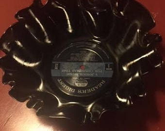Vinyl Bowl made out of an old vinyl record