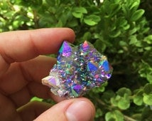 Incredible rainbow amethyst aura spirit Quartz cluster faery cactus