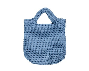 Blue knitted bag