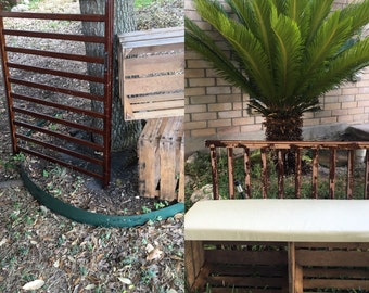 Upcycled Crates- Bench with Storage- Local Customers Only in Central Texas