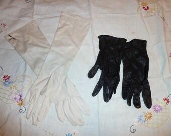 Two pairs of ladies vintage evening gloves