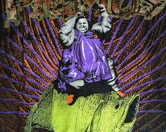 1993 PRIMUS PORK SODA Tour Allover Print Vintage T Shirt // Size Xlarge