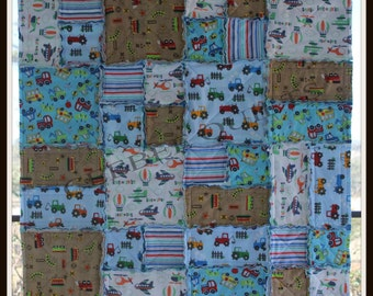 Boy's Raggy Quilt