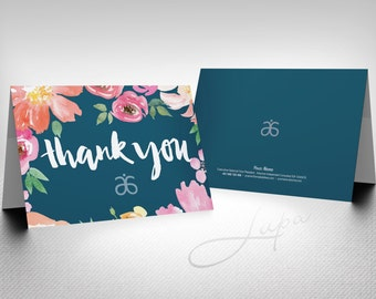 Arbonne A6 personalised folded note card (04) - printable file
