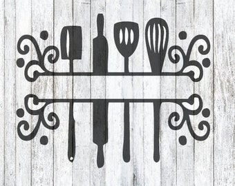 Split Kitchen Utensil SVG