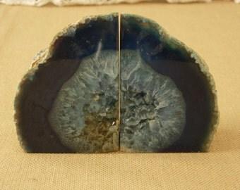 Deep Blue Amethyst Geode Crystal