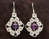 Byzantine Eye Chainmail Earrings
