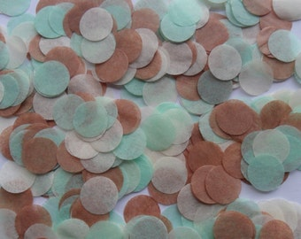 Mint Choc Chip Biodegradable Tissue Paper Confetti Circles Wedding Party