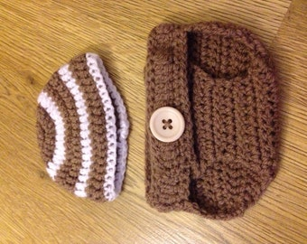 Nappy Diaper Cover and matching Hat