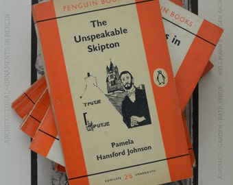 Penguin Book Collection - Vintage Penguin Books - Orange Penguin Books