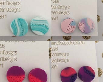 Footprint style stud earrings