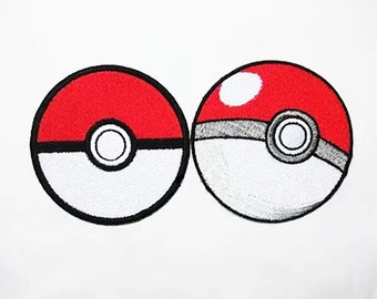 Pokemon patch poketball adhesive patch embroidered patch iron on patch embroidery patch sew on patch iron on patches