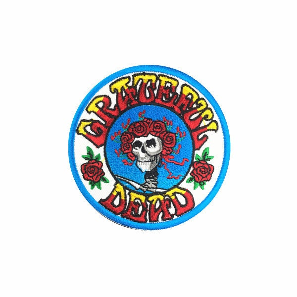Band patch grateful dead embroidered iron by