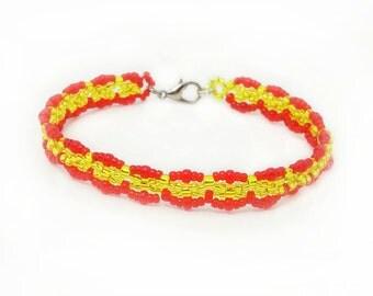 Bracelet Spain - soccer Euro Cup 2018 - merchandise (BS-1313)