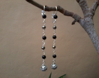 Bali Evening - Onyx, pyrite and sterling