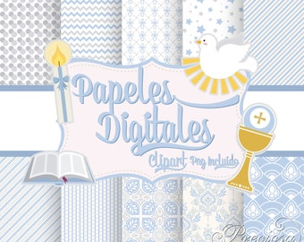 Digital papers first communion + Extras