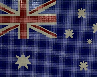 Glass Mosaic Australian Flag