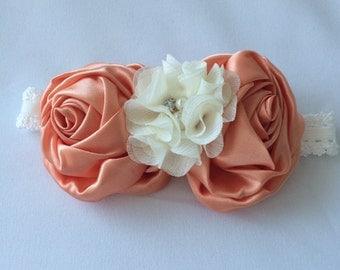 Satin rossette headband