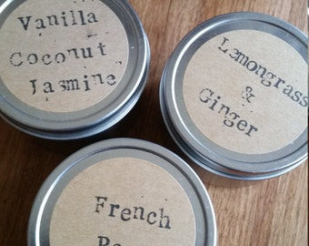 travel tin candle set of 3 by sinash