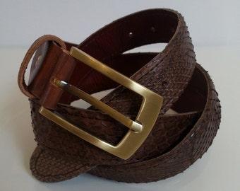 Brown Python belt