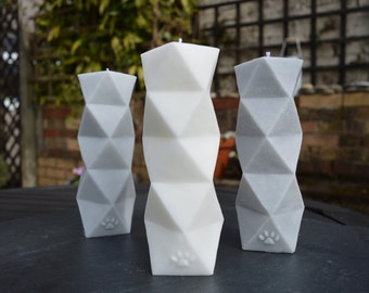 Geometric Pillar Candle