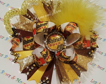 Shiner Bock Beer Hair Bow, Shiner Bock Beer, Shiner Bock