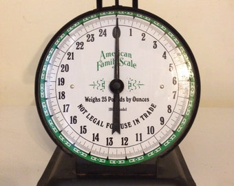 Vintage American Family Scale 25# 1906 model