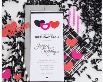 50 Birthday Bash Party Invitation