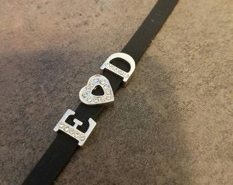 Personalized rubber bracelet