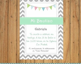 INVITATION / First Holy Communion, Baptism , Birthday, babyshower