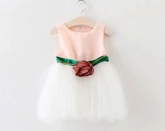Flower Belt Party Dress