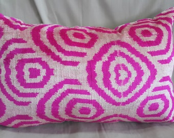 "15""×24"" 38×60 cm Hand Woven Anatolian  Pillow Cushion Cover Decorative Pillow Silk İkat Velvet Pillow Home İnterior"