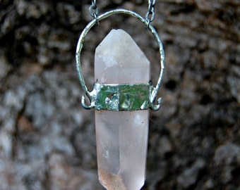 Rose Quartz Soldered Necklace