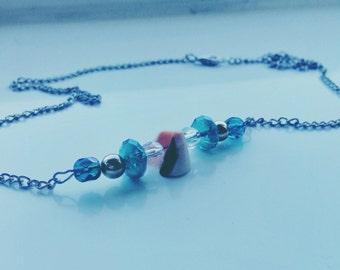 Mermaid/ocean inspired beaded necklace