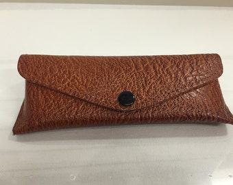 Vintage Brown Leather Glasses Case Rexella Spectacle Case