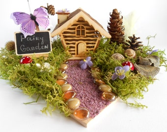 Fairy House, Fairy Garden House, Fairy Garden Cottage, Tiny Fairy House, Miniature House, Gnome House, Tiny Fairy House, Small House