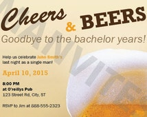 Cheers & Beers - Bachelor Party Invite